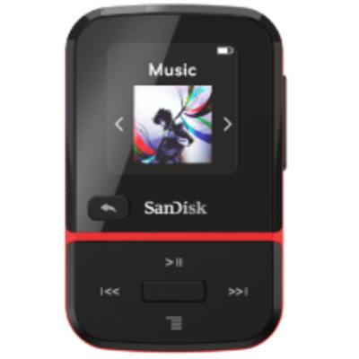 Sandisk Clip Sport Go MP3 speler - Zwart, Rood