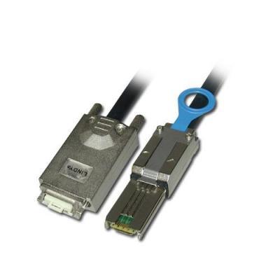 Lindy ATA kabel: External Multilane SATA & SAS, 1m - Zwart