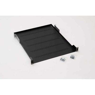 Triton Shelf with perforation 1U 850mm Rack toebehoren - Zwart
