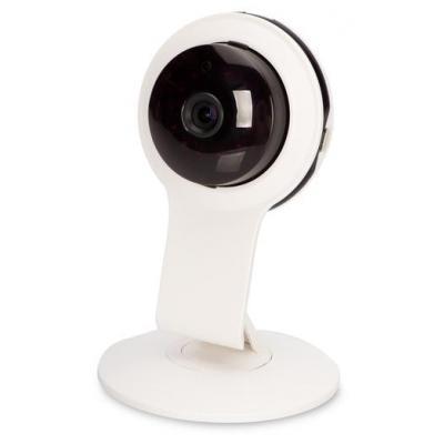 Ednet HD 720p, 85° FOV, 12xLED IR, White - Zwart, Wit