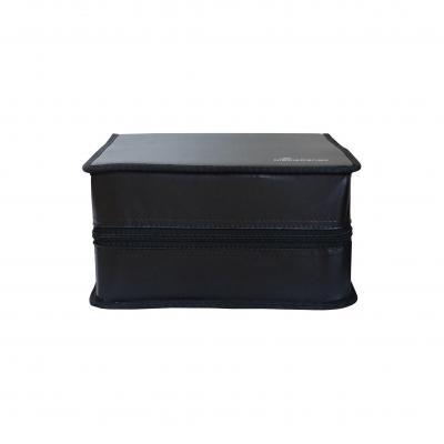 Mediarange : Media storage wallet for 400 discs, synthetic leather, black - Zwart