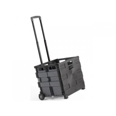 Staples kantoormeubel: Krat trolley opvouwbaar zwart