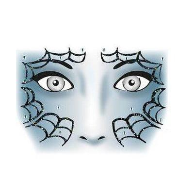 Herma sticker: Face Art Sticker Spider - Zwart, Grijs