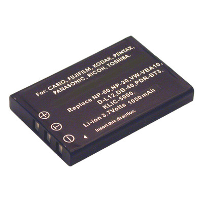 2-Power Digitale Camera Accu 3,7V 1150mAh - Zwart