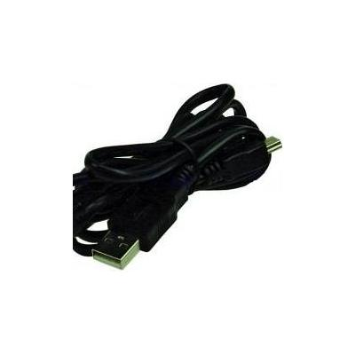 2-power USB kabel: USB - Mini USB - Zwart