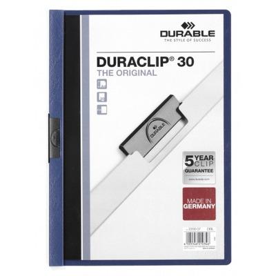 Durable Duraclip 30 Stofklepmap - Blauw, Transparant