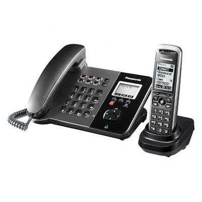 Panasonic ip telefoon: KX-TGP550T01, SIP, LCD - Zwart
