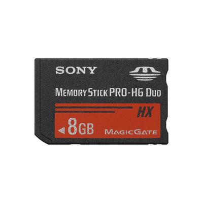 Sony MSHX8B, 8GB, MS PRO-HG Duo Flashgeheugen - Zwart
