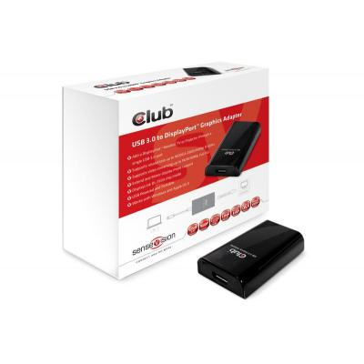 Club3d : SenseVision USB3.0 to Displayport 1600p Graphics Adapter - Zwart