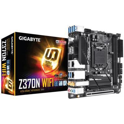 Gigabyte moederbord: LGA1151, Intel Z370, 2x DDR4 DIMM, Realtek ALC1220, 2x HDMI 2.0, DP 1.2, 2x GbE RJ-45, 1x PCI .....