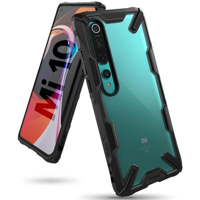 Ringke Fusion X Backcover Xiaomi Mi 10 (Pro) - Zwart - Zwart / Black Mobile phone case
