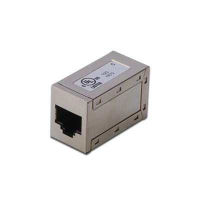 Digitus Modular Coupling, 8P8C, 1:1 shielded CAT6, metal housing Kabel adapter - Nikkel