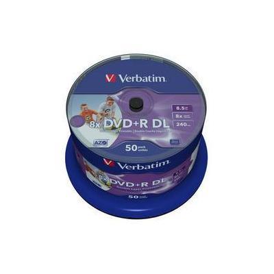 Verbatim DVD: DVD+R DL Wide Inkjet Printable 8x