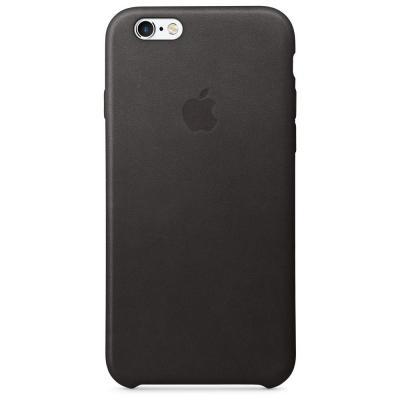 Apple mobile phone case: Leren hoesje voor iPhone 6s - Zwart