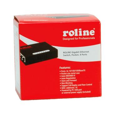 ROLINE Gigabit Ethernet, Pocket, 4 Ports Switch