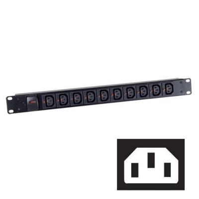 Black Box Click-Lock C13 Power Strips Energiedistributie - Zwart