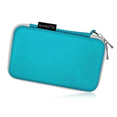 Playfect portable game console case: Mega Carry Case for 3DS, DSi and DS Lite - Turquoise Edit. - Turkoois