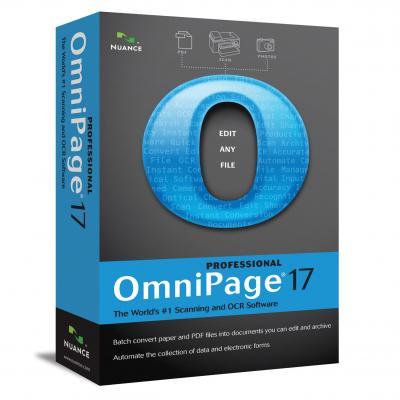 Nuance OCR software: OmniPage OmniPage Professional 17