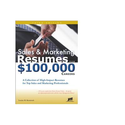 Jist publishing boek: Sales and Marketing Resumes for $100,000 Careers - eBook (PDF)