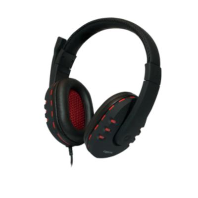LogiLink HS0033 Headset - Zwart, Rood