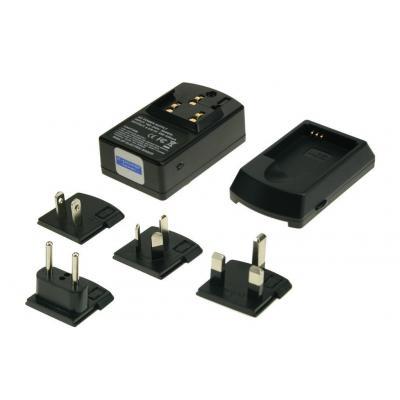 2-power oplader: Universal Digital Camera Charger, 110-240V AC, 4.2V, Black - Zwart