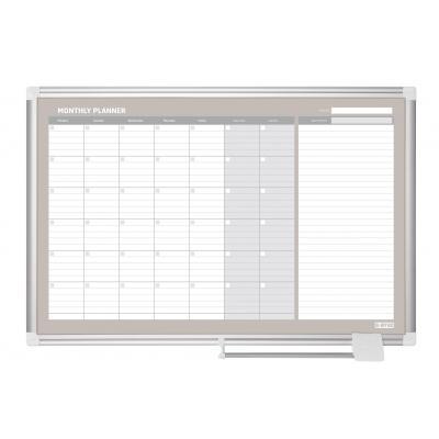 Bi-office planningsysteem: 900 x 600 mm, Steel - Zilver