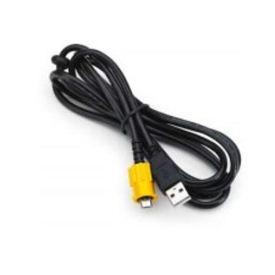 Zebra USB Cable with Twist Lock, 3.66m USB kabel - Zwart,Geel