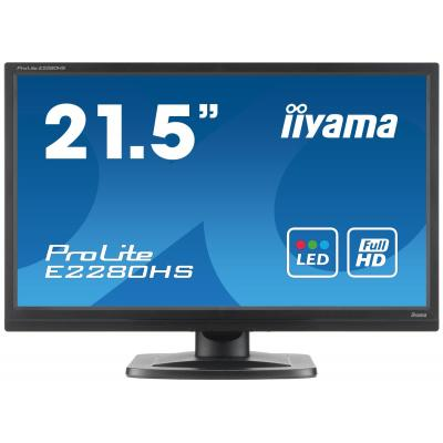 "Iiyama monitor: ProLite 22"" Full HD monitor met LED-lights - Zwart"