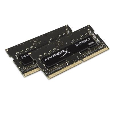 Hyperx RAM-geheugen: Impact 16GB DDR4 2400MHz Kit - Zwart