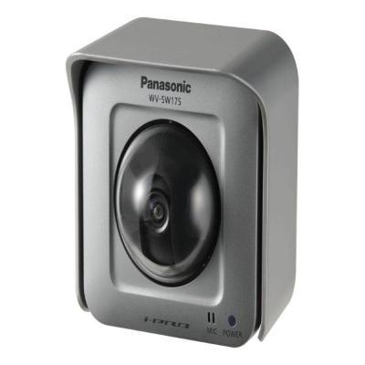Panasonic WV-SW175, Weatherproof, HD, Pan/Tilt, IP55, PoE, SD, Silver Beveiligingscamera - Zilver