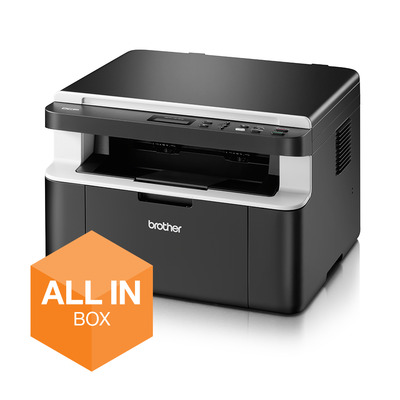 Brother De DCP-1612W is een compacte en betrouwbare all-in-one zwart-witlaserprinter. All-in-Box bundel met vijf .....