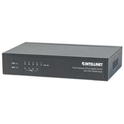 Intellinet PoE-Powered 5x Gigabit Switch - Zwart