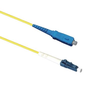 EECONN Glasvezel Patchkabel, 9/125 (OS1), LC - SC, Simplex, 15m Fiber optic kabel - Geel