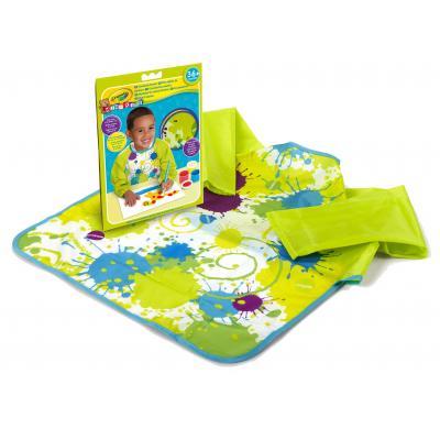 Crayola : Mini Kids - Verfschort lange mouw - Veelkleurig