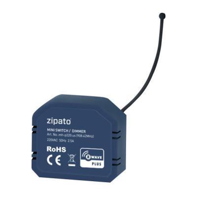 Zipato dimmer: Mini Energy Dimmer, 868.42 MHz, 85V – 260VAC, 50Hz, 30/70m, Z-Wave - Blauw