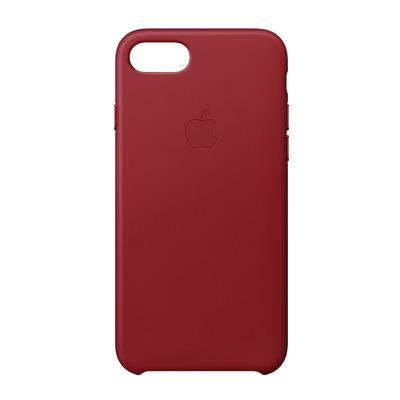 Apple mobile phone case: Leren hoesje voor iPhone 8/7 - (PRODUCT)RED - Rood