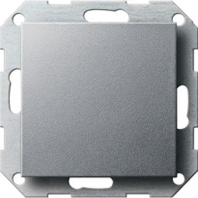 GIRA Blind afdekplaat met draagring, kleur aluminium