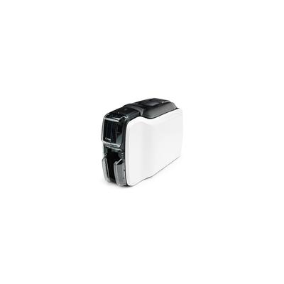 Zebra ZC100 Plastic kaart printer - Zwart, Wit
