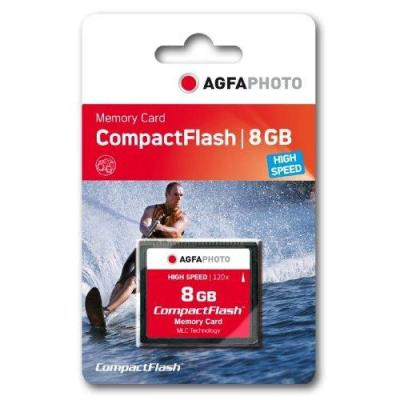 AgfaPhoto Compact Flash, 8GB Flashgeheugen - Zwart