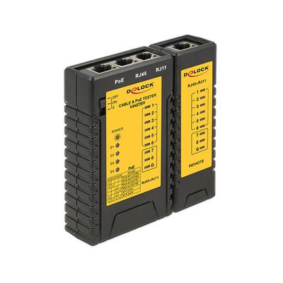 DeLOCK 86107 Netwerkkabel tester - Zwart, Geel
