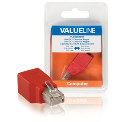 Valueline RJ45/RJ45 Netwerk splitter - Rood