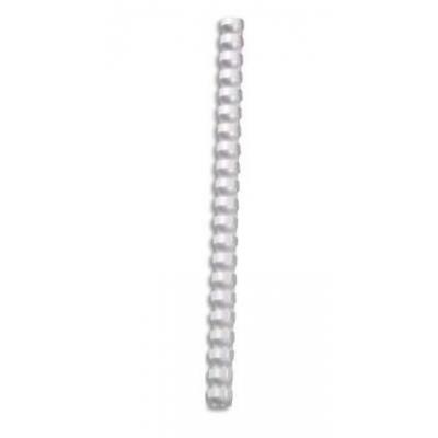5star inbinder: Plastic binding combs A 21, 25mm, A4, pack of 50 - Wit