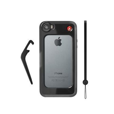 Manfrotto Bumper for iPhone 5/5S + kickstand + hand-wrist strap Mobile phone case - Zwart