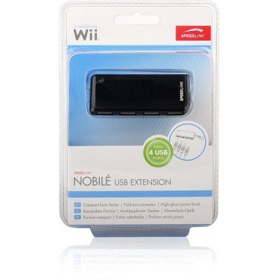 Roccat spel accessoire: Speedlink, NOBIL USB Extension (Zwart)  Wii / Wii U