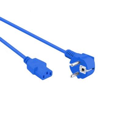 EECONN Netsnoer, Schuko Haaks - C13, 3x 0.75mm², Blauw, 0.6m Electriciteitssnoer