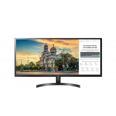 "LG UltraWide 34WK500-P 34"" FHD IPS Monitor - Zwart"