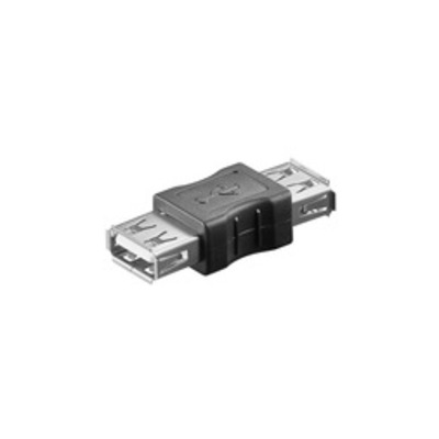Microconnect USB 2.0 A-A F-F Kabel adapter - Zwart