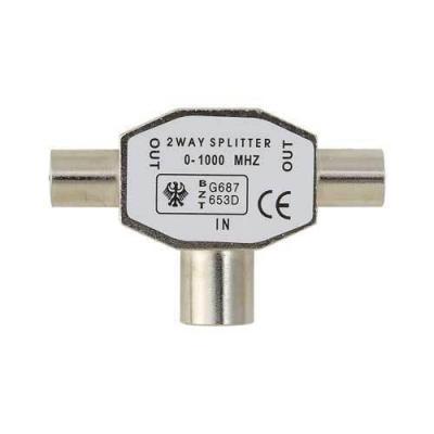Belkin kabel adapter: Splitter Antenna TV Coax/2xCoax M/F - Brons
