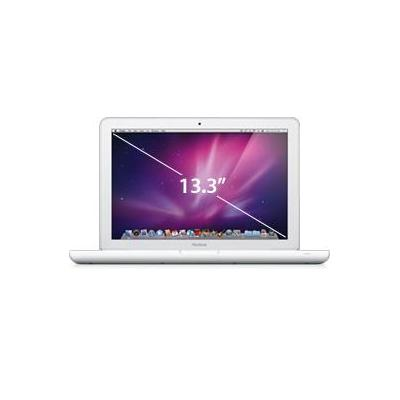 Apple laptop: MacBook 13'' Wit   Refurbished   Zichtbaar gebruikt