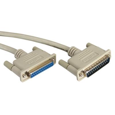 ROLINE RS232 Kabel D25 M/F 6,0m Seriele kabel - Grijs